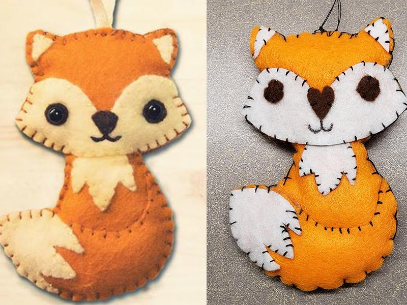 Felt Woodland Fox Craft