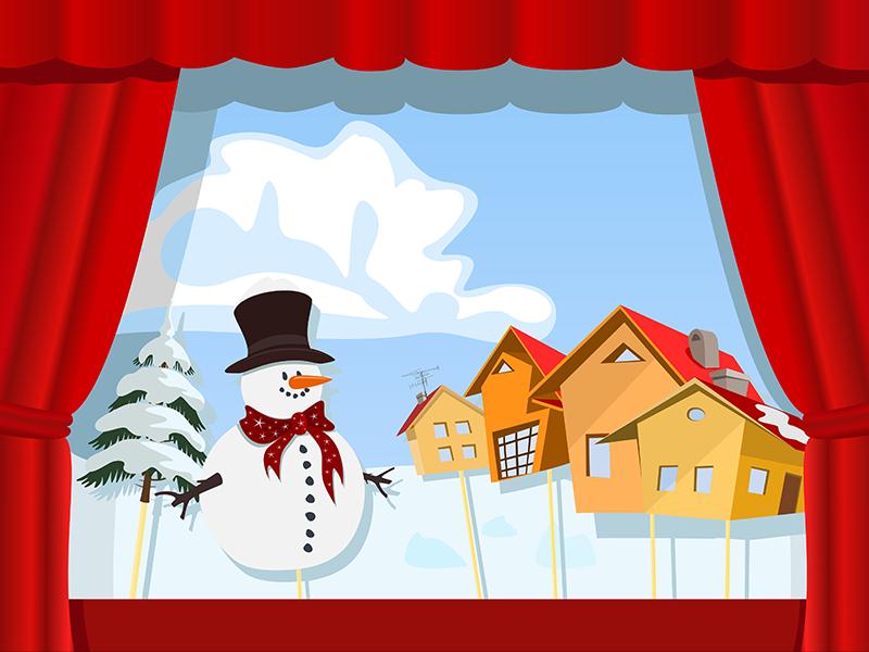 Christmas Trees Virtual Puppet Show