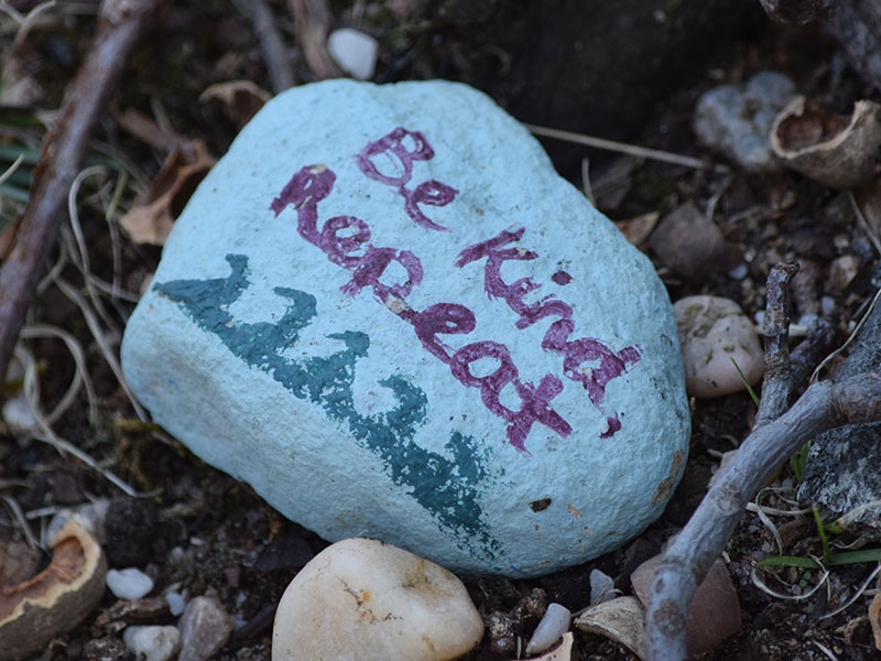 Motivational Rock Painting