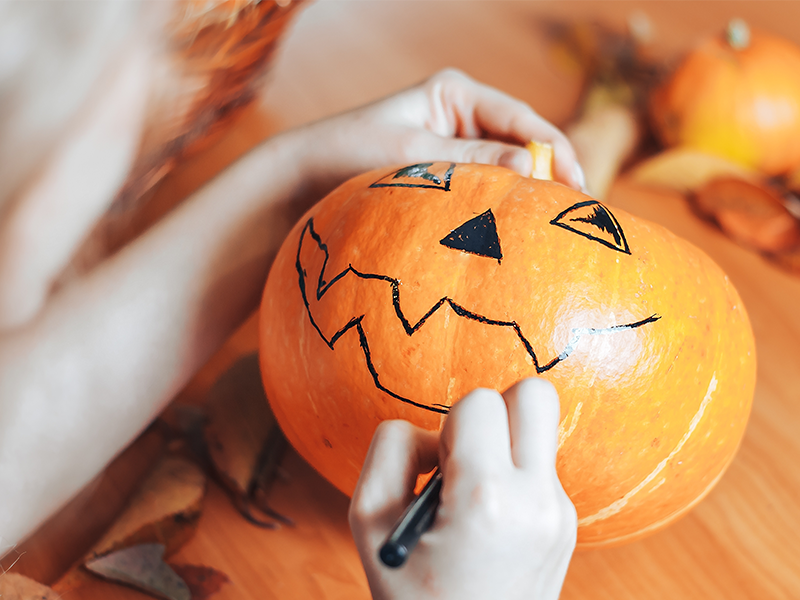 Pumpkin Decorating with a Twist