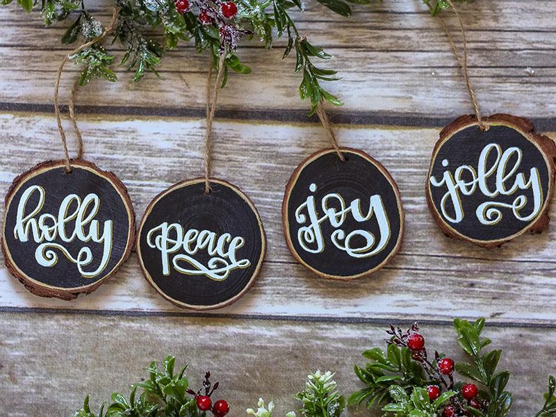 DIY Holiday Wood Ornament & Tassel Topper