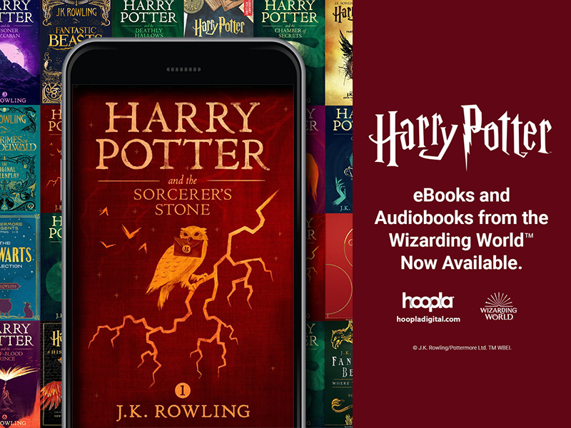 Harry Potter Now on hoopla!
